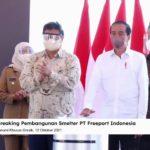 Foto: Presiden Joko Widodo Saat Peresmian Pembangunan Smelter Temabag PT Freeport Indonesia (Tangkapan Layar Youtube Sekretariat Presiden)